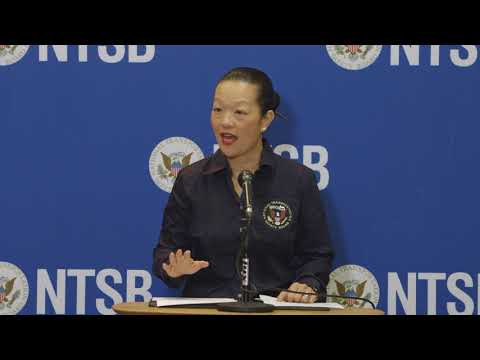 NTSB Member Bella Dinh Zarr's first media briefing on the 18/12/17 derailment in DuPont, WA