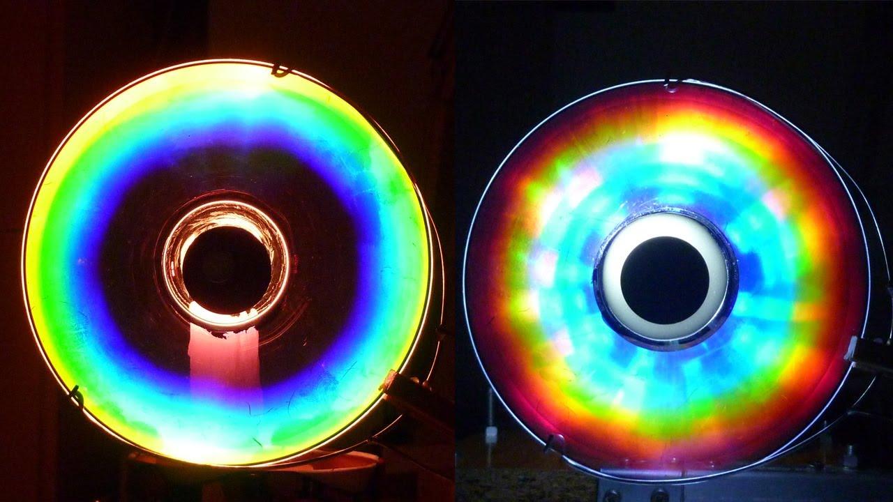 Cmo hacer Colores Alucinantes con un CD Arco iris Casero