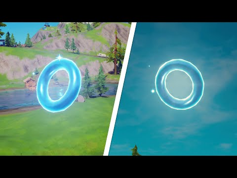 Collect Floating Rings at Lazy Lake All Locations - Fortnite