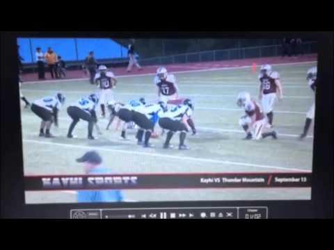 Thunder Mountain High School football- Viliami Matakaiongo #9 2012