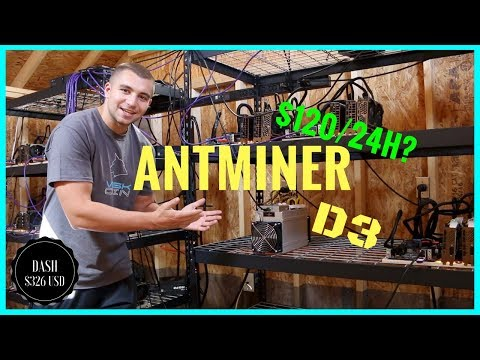 Does my Bitmain Antminer D3 make $120 a day ?! 17.5 Gh/s X11 Miner