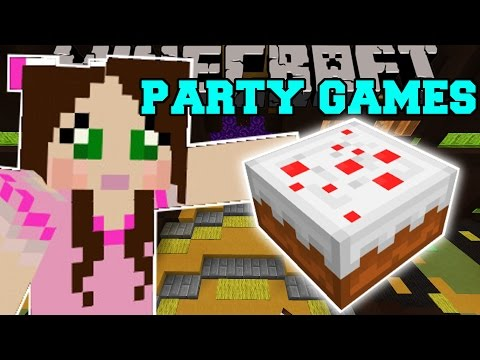 Minecraft: PARTY MINI-GAMES! (COIN JUMPING, VOLCANO PARKOUR, PIG FISHING!) Mini-Game