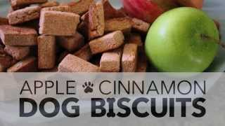 Easy Healthy Dog Biscuits | Apple Cinnamon