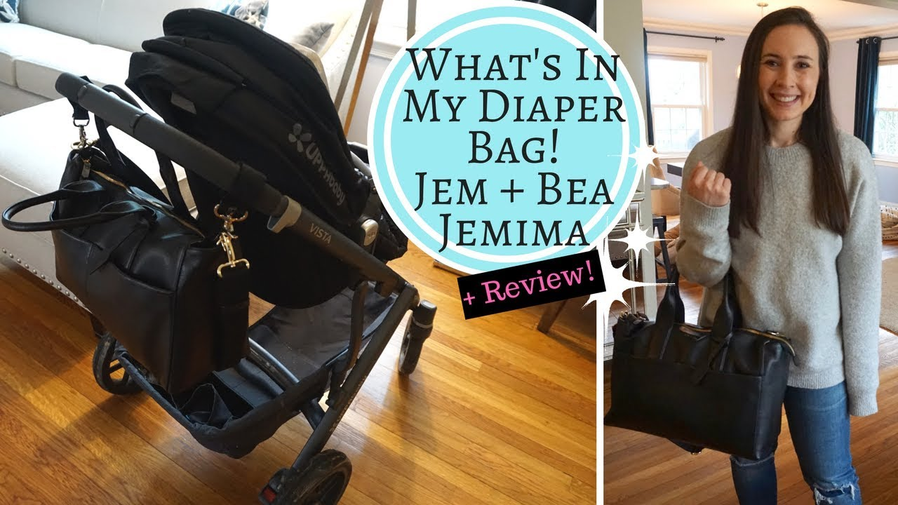 ee1ee94ce1b9 What s In My DIAPER BAG!!! Jem + Bea Jemima Changing Bag Review BEST DIAPER  BAG IN THE WORLD!