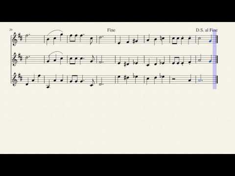 Mario Underwater Theme - Clarinet Trio