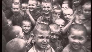 1943. Необычайная встреча. Солдаты освобождают детей потерявших родителей.
