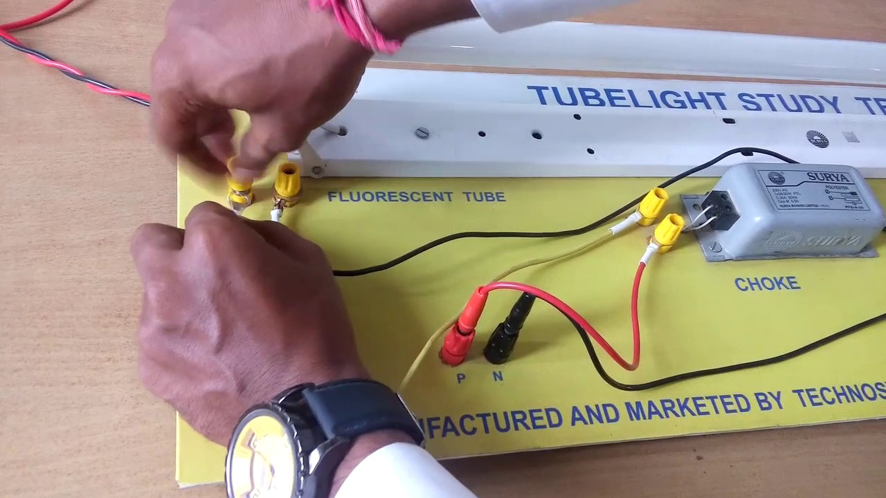Tube Light Wire Connection Center Honda C65m Clymer Electrical Wiring Diagram Experiment How We Can Make The Of Fluorescent Rh Youtube Com Glass
