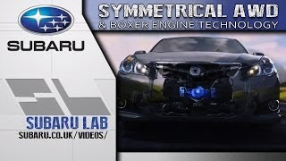 Subaru How It Works (animation): Symmetrical All-wheel Drive And Boxer Engine Technology