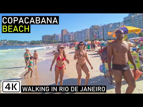 Walking COPACABANA BEACH | 🇧🇷 Rio de Janeiro, Brazil |【4K】2021