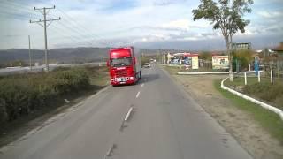 Bulgarien von der Grenze richtung Sofia  Mit dem LKW 3