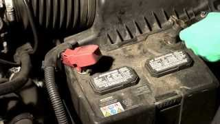 How to change the  battery in a Honda Accord 2007