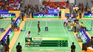 27th SEA GAMES MYANMAR 2013 - Badminton 12/12/2013