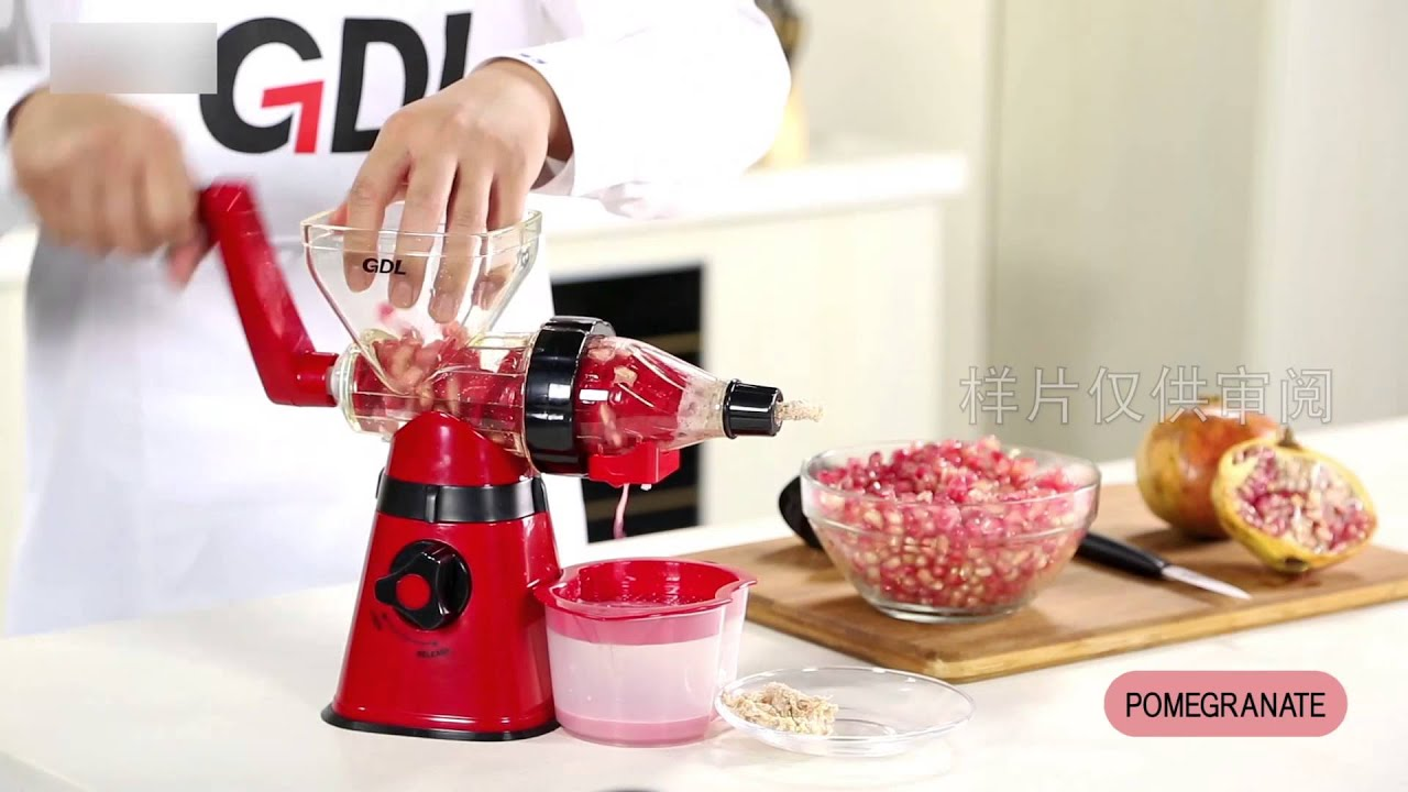 Gdl Manual Slow Juicer : GDL-Golden Light-manual juicer & mincer PS-308H-Meat grinder & hand juicer - YouTube