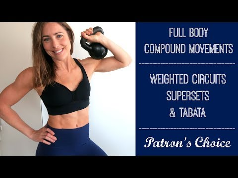Weighted Circuits, Supersets + Tabata // Full Body Compound Movement Strength Workout