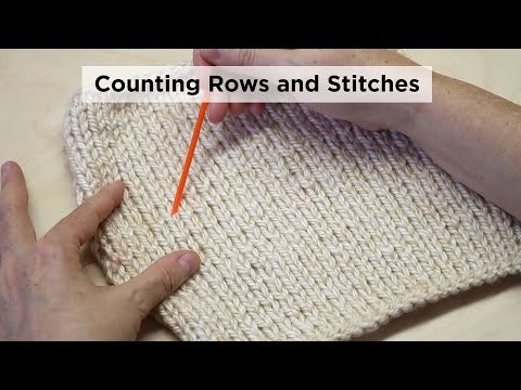 How To Count Stockinette Stitch Rows And Stitches