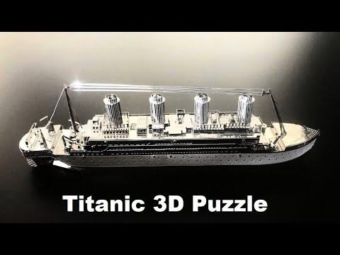 Titanic Ship 3D Model Realistic Metal Nano Puzzle