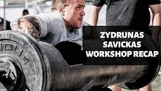 Žydrūnas Savickas Workshop Takeaways