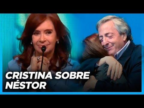 Cristina recuerda a Néstor, en Rosario (Primera parte de su presentación)