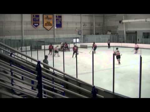 Tommy Mason Little Flyers # 88 White Midget Nats vs NJ Devils gets his own rebound
