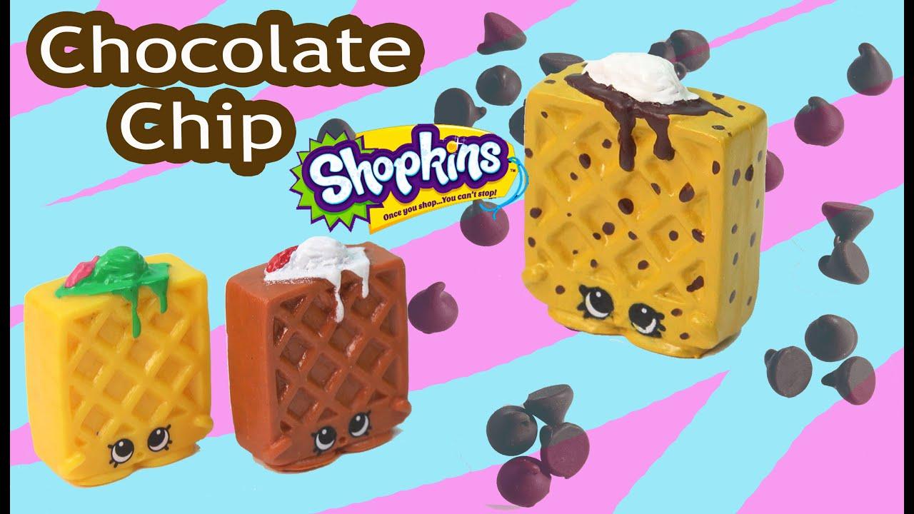 Custom Shopkins Season 2 CHOCOLATE Chip Waffle Sue DIY Painted Craft Toy Video Cookieswirlc