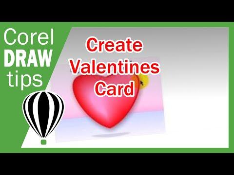 Valentines card in CorelDraw