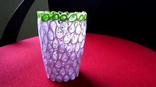 Handmade Paper Quilling Vase