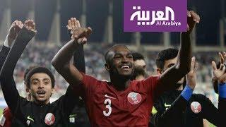 تفاعلكم : احتفال لاعب الكرة العراقي الأصل الراوي بفوز قطر يغ