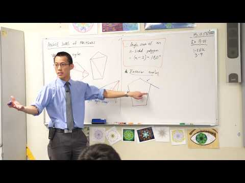 Angle Sums of a Polygon (2 of 2: Exterior angles)
