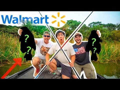 Walmart CANE POLE Fishing Challenge!! (Catch Clean Cook)