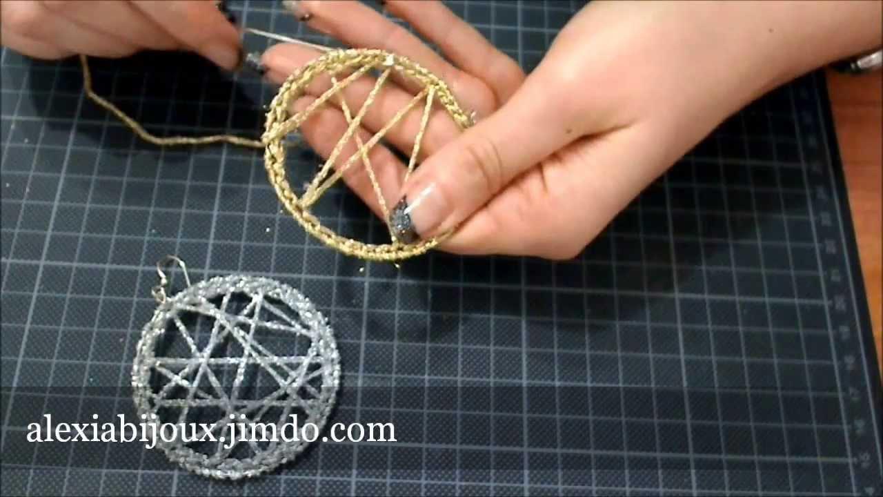 Diy Tutorial Orecchino A Cerchio Uncinetto Argento Oro Gioielli