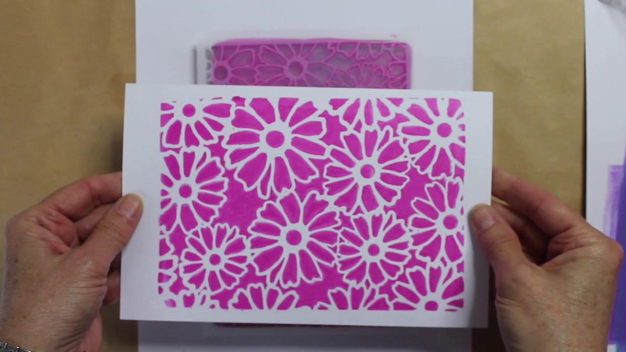 Gelli Arts® Flower Stencil - Designed to print with 5x7 Gelli Arts®  printing plate