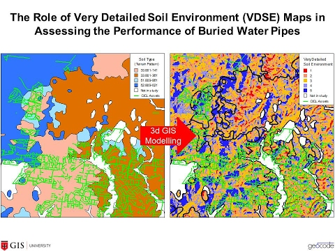 The Role of Very Detailed Soil Environment Maps in Assessing the Performance of Buried Water Pipes