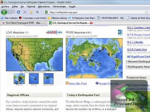 como localizar los sismos ocurridos en los ultimos momentos..