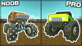 NOOB vs PRO Monster Truck Challenge! (Scrap Mechanic Gameplay)
