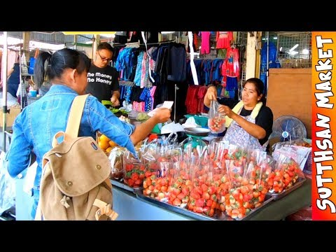 Thai STREET FOOD -Bangkok Sutthisan Market- (Gopro Hero6 + Karma Grip)