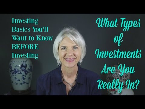 Investing basics - Types of Investments You Own