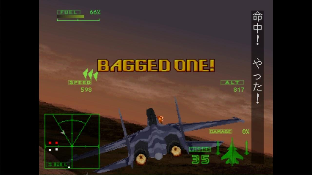 Ace Combat 2 Playstation 1 Analise, jogo em curso,
