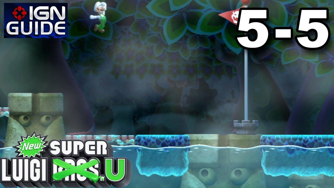New Super Luigi U Secret Exit Walkthrough Soda Jungle 5 Deepsea