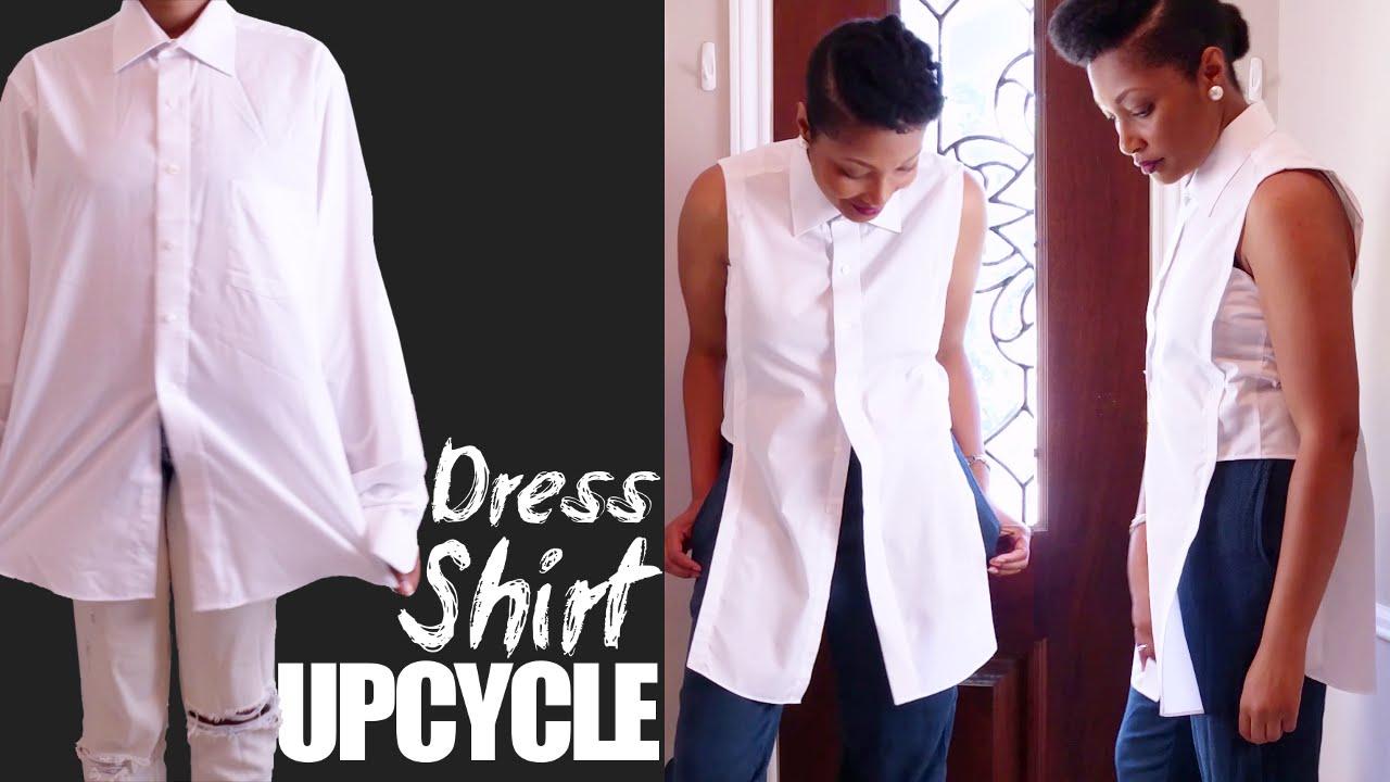 dcb45d77b14c0 How To Turn a Man s Dress Shirt into a Woman s Blouse
