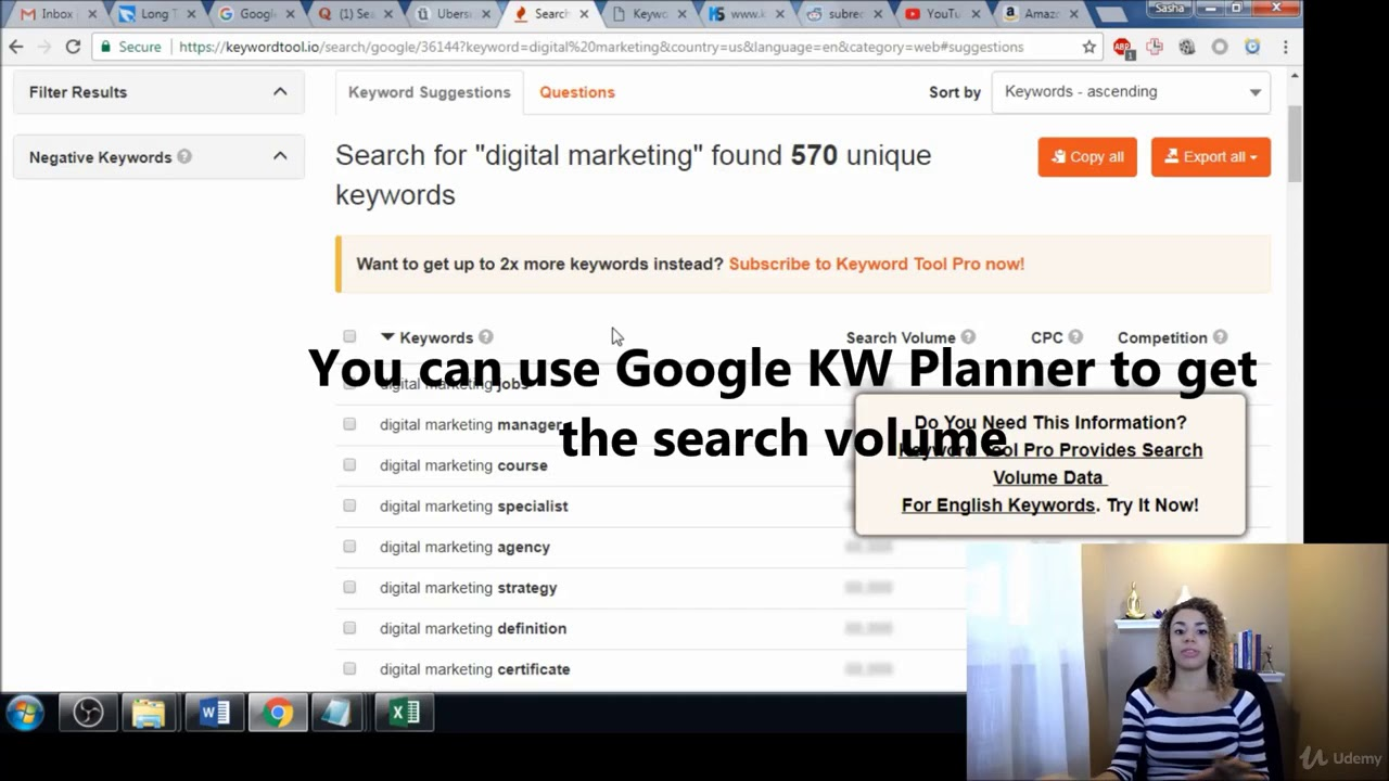 Using KeywordTool io for KW Ideas Free Tool - keyword planner free #1