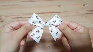 리본 예쁘게 묶는 법 - 리본 묶기 꿀팁/ 쉽고 간단하게 리본 예쁘게 묶는 방법/Easy ribbon work/single ribbon bow