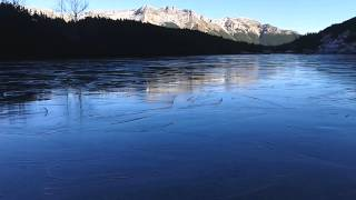 Unusual sound of rocks on ice lake - High Tatra Mountains - Slovakia