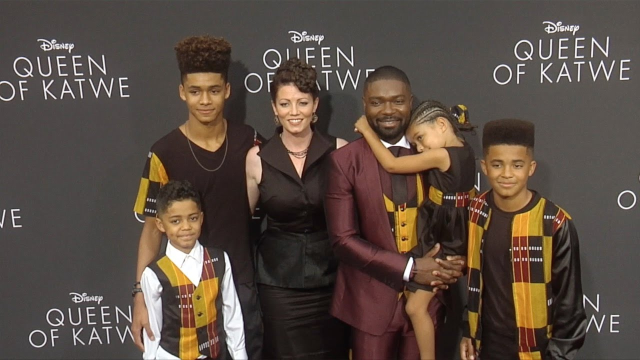 "David Oyelowo, Jessica Oyelowo & Kids ""Queen of Katwe ..."