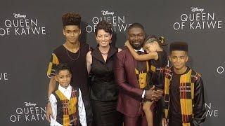 David Oyelowo Jessica Oyelowo amp Kids quotQueen of Katwequot Premiere