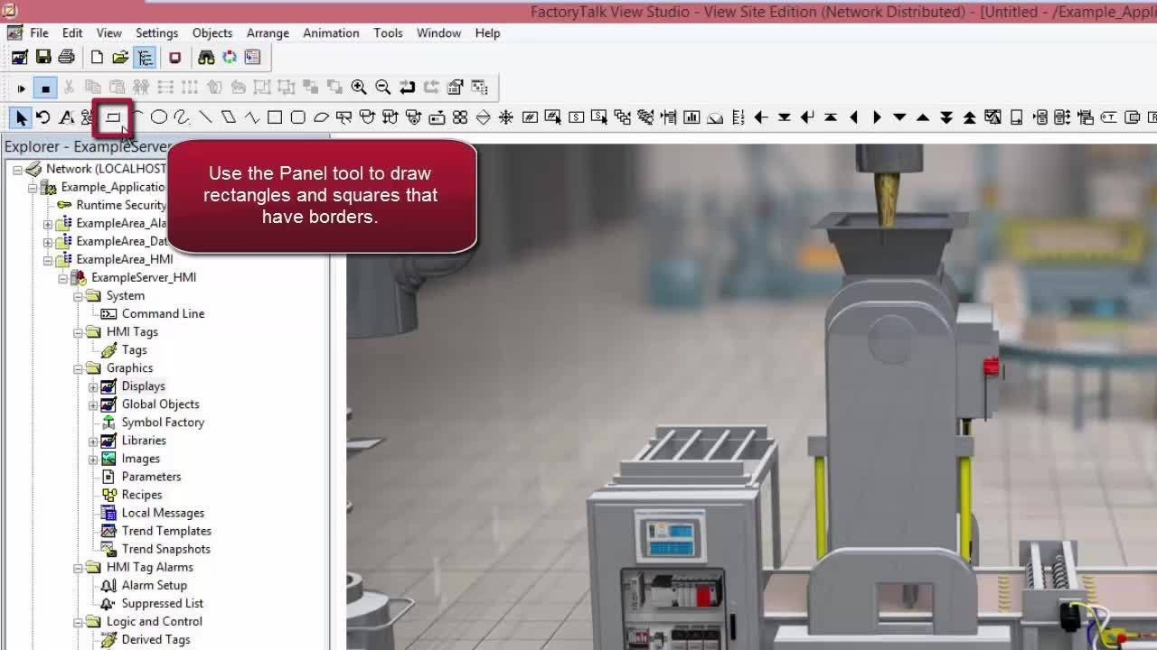 Creating a FactoryTalk View SE Display