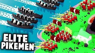 ELITE PIKEMEN! Defending the BEACHES With The BEST UNIT In The Game! (Bad North Gameplay)