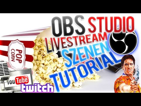 OBS STUDIO SZENEN LIVESTREAM TUTORIAL DEUTSCH | z.B. FÜR YOU TUBE /TWITCH | 1080p