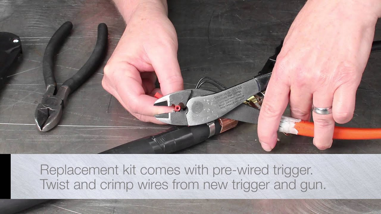 How To Tweco Mig Gun Trigger And Handle Replacement Youtube Diagram Parts List For Craftsman Welderparts Model 113201440