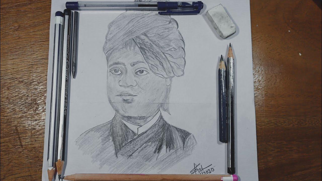 Drawing Swami Vivekananda | How To Draw Swami Vivekananda ...