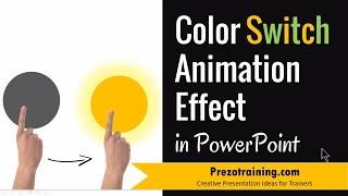 La couleur de l'Interrupteur d'Effets et d'Animations dans PowerPoint 2013 (AVEC le SON)